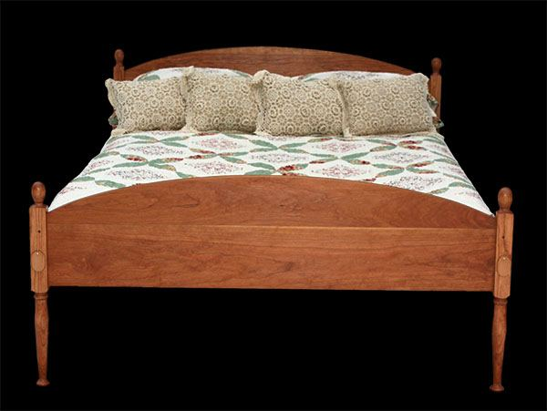Custom Handmade Wood Shaker Bed from Vermont