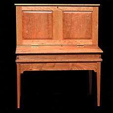 Handmade Cherry Wood Shaker Style Desk Furniture in Vermont   MJ Amsden Furniture
